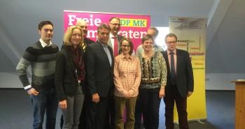 Der neue Vorstand der FDP im Märkischen Kreis