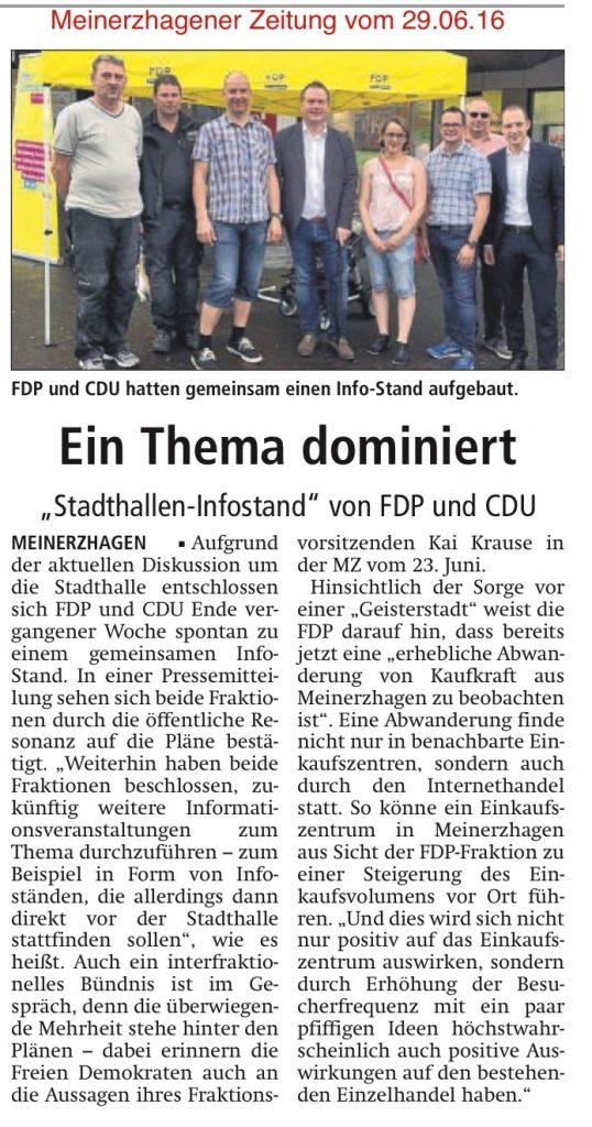 Meinerzhagener Zeitung vom 29.06.16