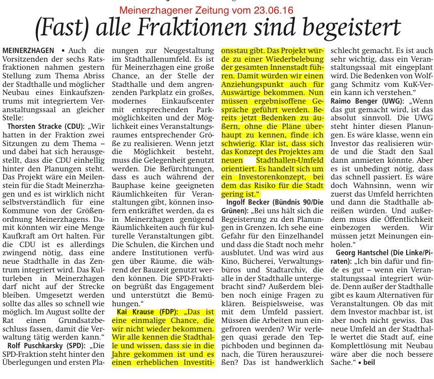 Meinerzhagener Zeitung vom 23.06.16