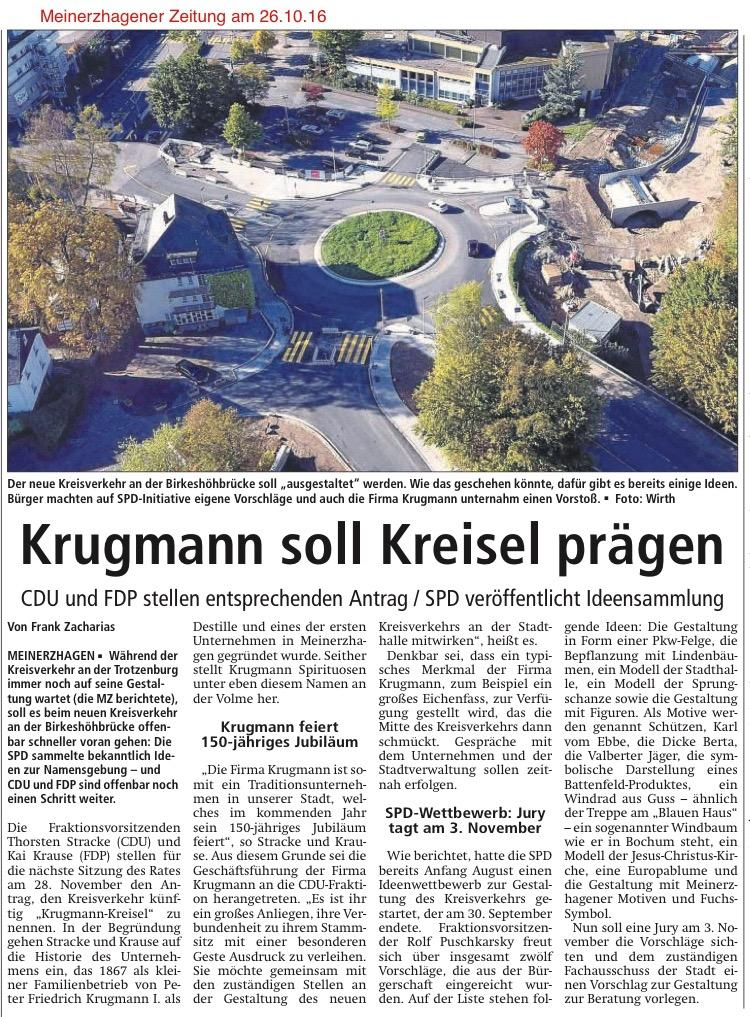 Meinerzhagener Zeitung am 26.10.16