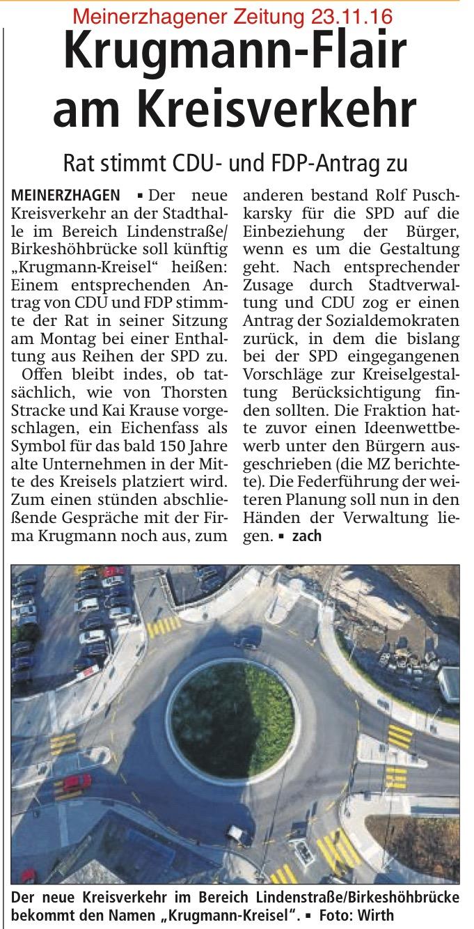 Meinerzhagener Zeitung vom 23.11.16