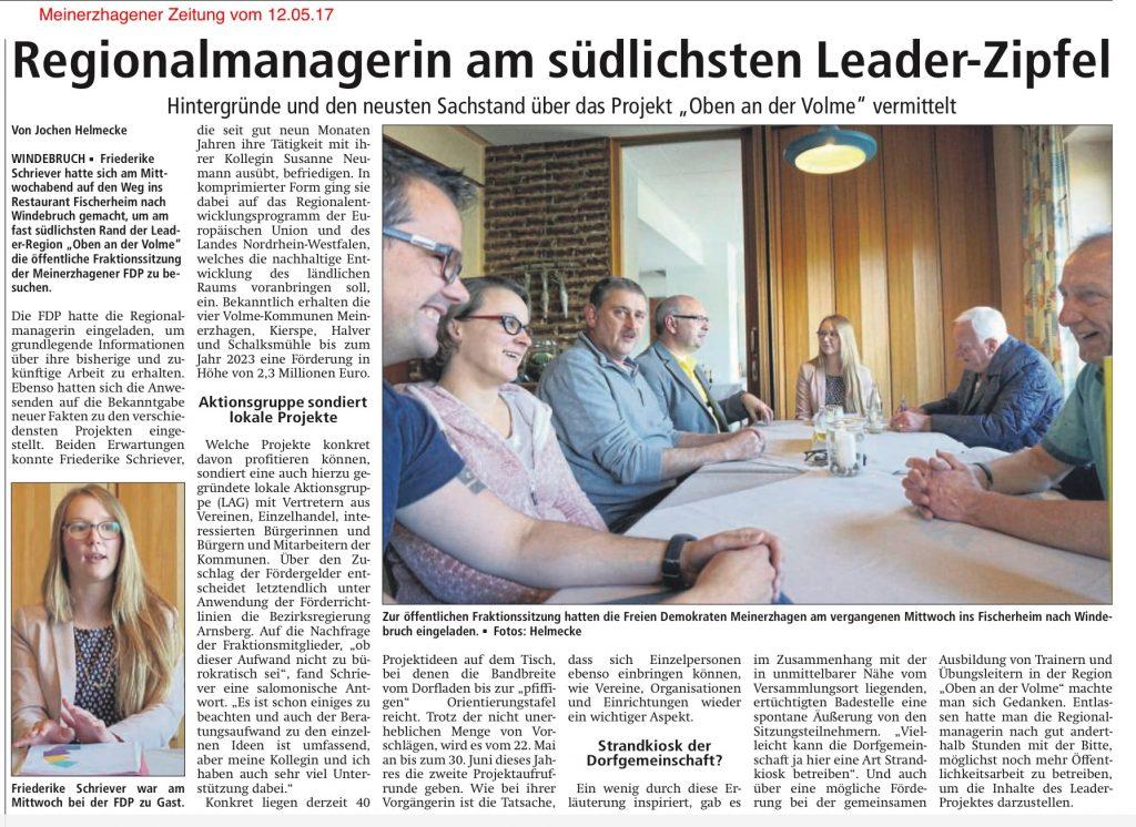 Meinerzhagener Zeitung vom 12.05.17