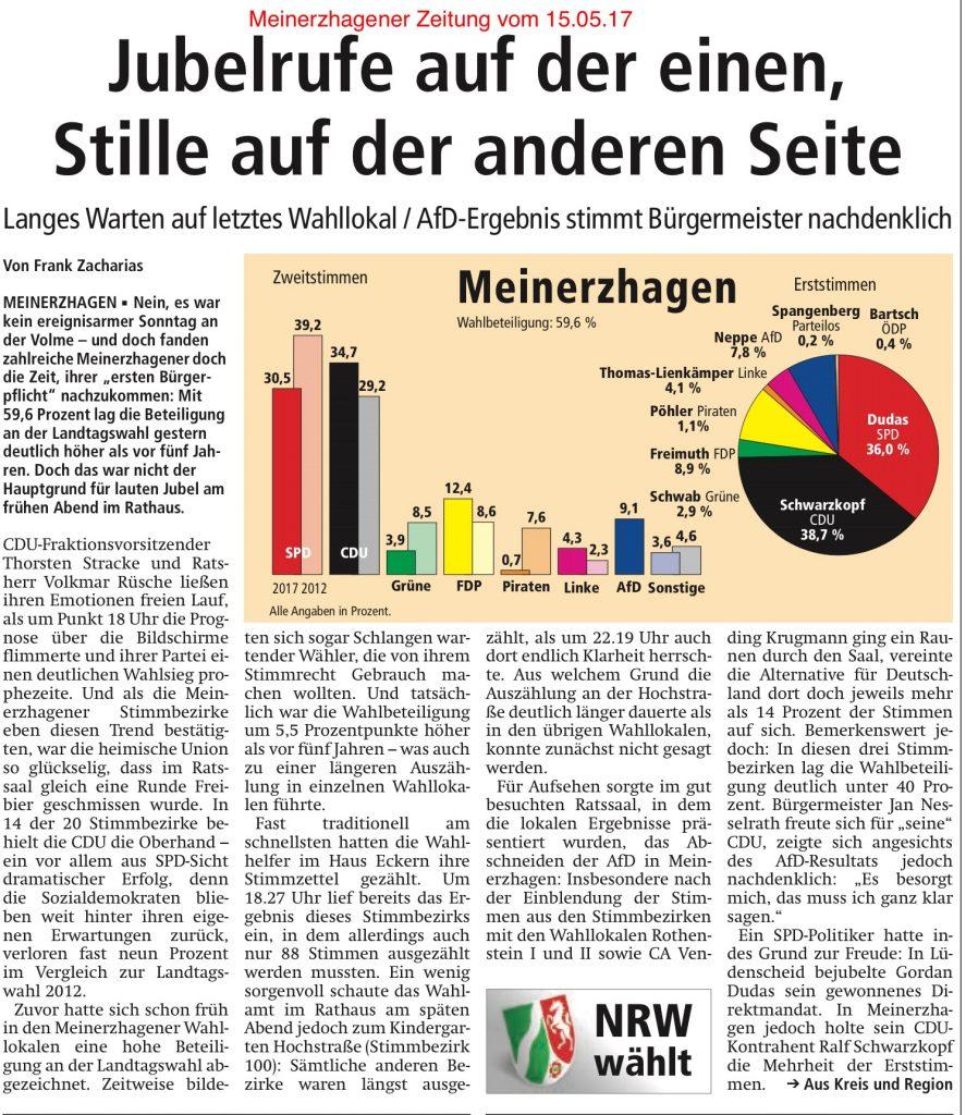 Meinerzhagener Zeitung vom 15.05.17