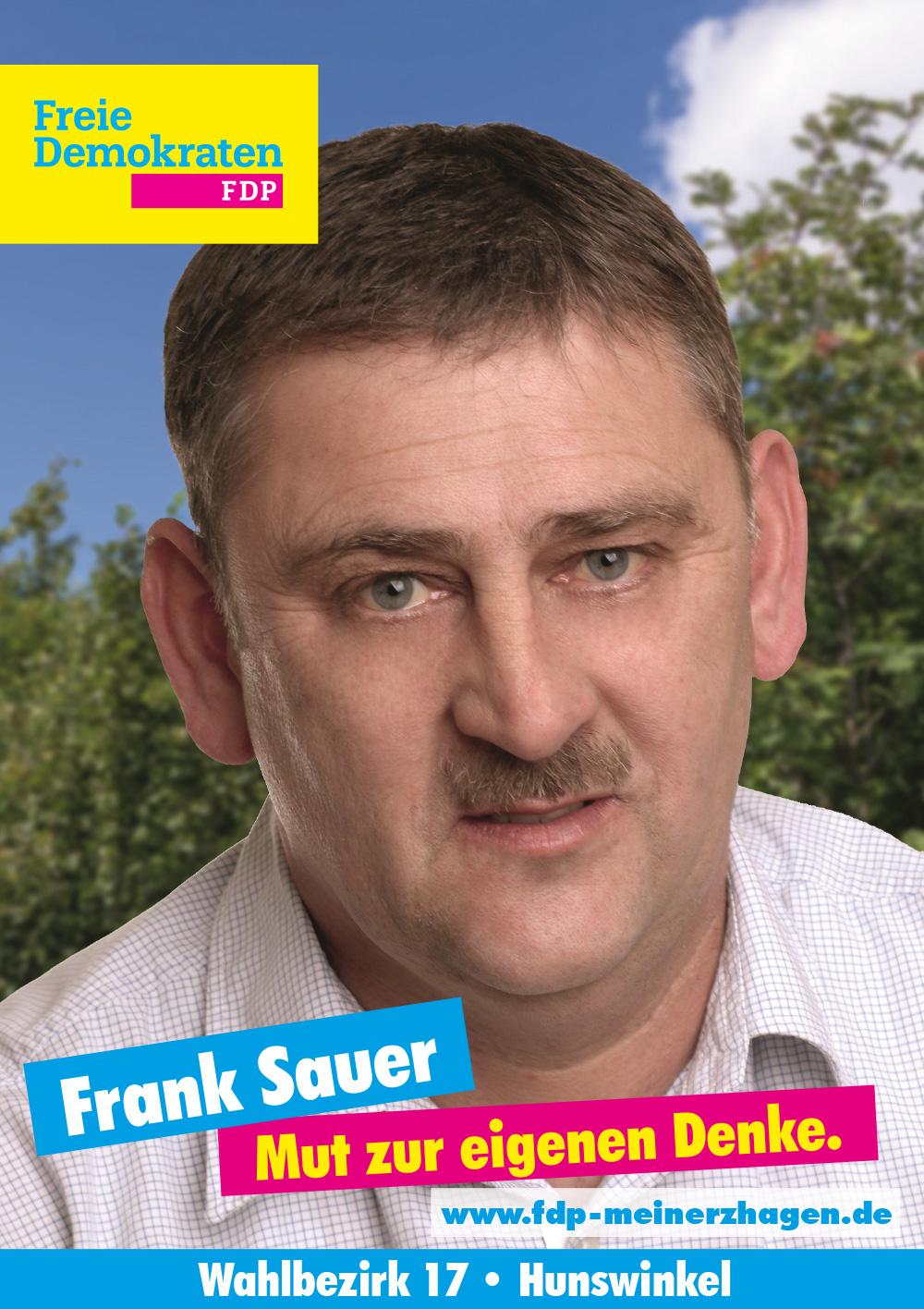 Wahlbezirk 17 - Frank Sauer