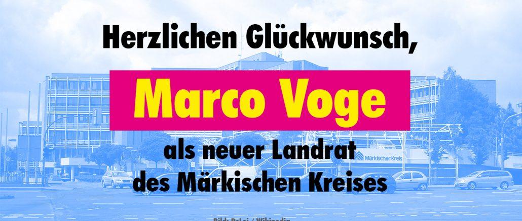 Herzlichen Glückwunsch an Marco Voge, den neuen Landrat des Märkischen Kreises. Bild: PeLei / Wikipedia