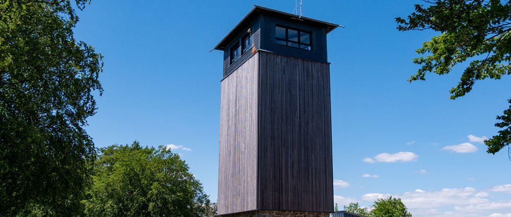Robert-Kolb-Turm auf der Nordhelle: Hier soll gemeinsam mit Herscheid das Natur- und Wandererlebniszentrum Nordhelle entstehen. Bild: Christian Schön